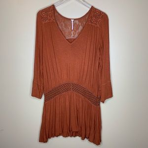 Free People Long Sleeve Tunic Floral Size Small